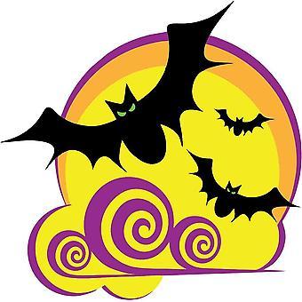 Autocollant Sticker Fete Deco Halloween Macbook Voiture Chauve Souris Enfant
