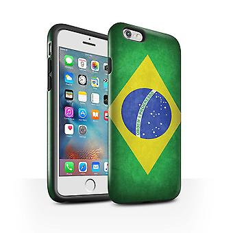 STUFF4 glans tøff sak for Apple iPhone 6 Plus/Brasil/brasiliansk/flagg