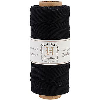 Bamboo Cord Spool 20# 205 Feet Pkg Black Bs Blak