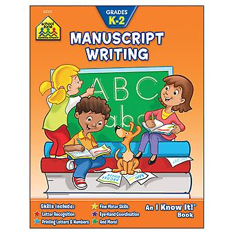 Curriculum Workbooks 32 Pages Manuscript Writing Grades K 2 Szcur 02001