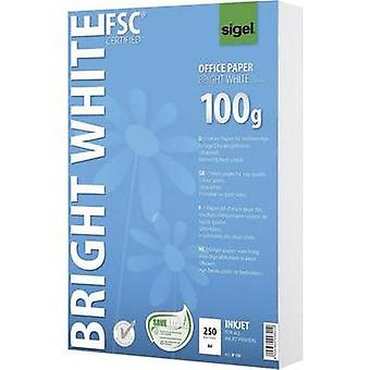 Inkjet printer paper Sigel Bright White Office Paper IP125 DIN A4 100 gm² 250 Sheet Ultra white