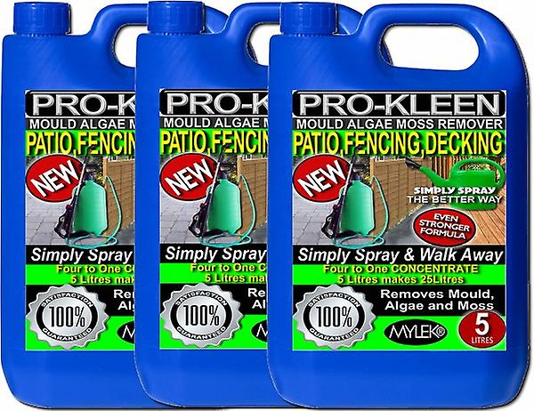 15l Of Simply Spray & Walk Away Patio; Fencing & Decking Cleaner | Mould; Algae & Moss Remover