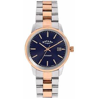Rotary Womens Avenger Two Tone Bracelet Blue Dial LB02737/05 Watch