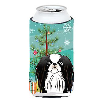 Christmas Tree and Japanese Chin Tall Boy Beverage Insulator Hugger BB1602TBC
