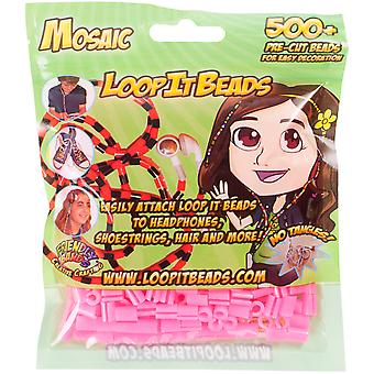 Friendly Bands Loop It Beads 500/Pkg-Cotton Candy FBLIB500-CCA