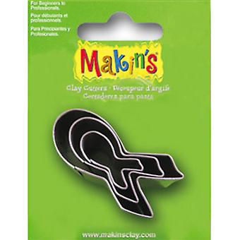 Makin's Clay Cutters 3/Pkg-Breast Cancer Awareness M360-38