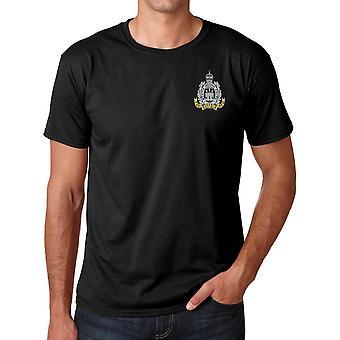 El regimiento de Suffolk bordado Logo - ejército británico oficial Ringspun T Shirt