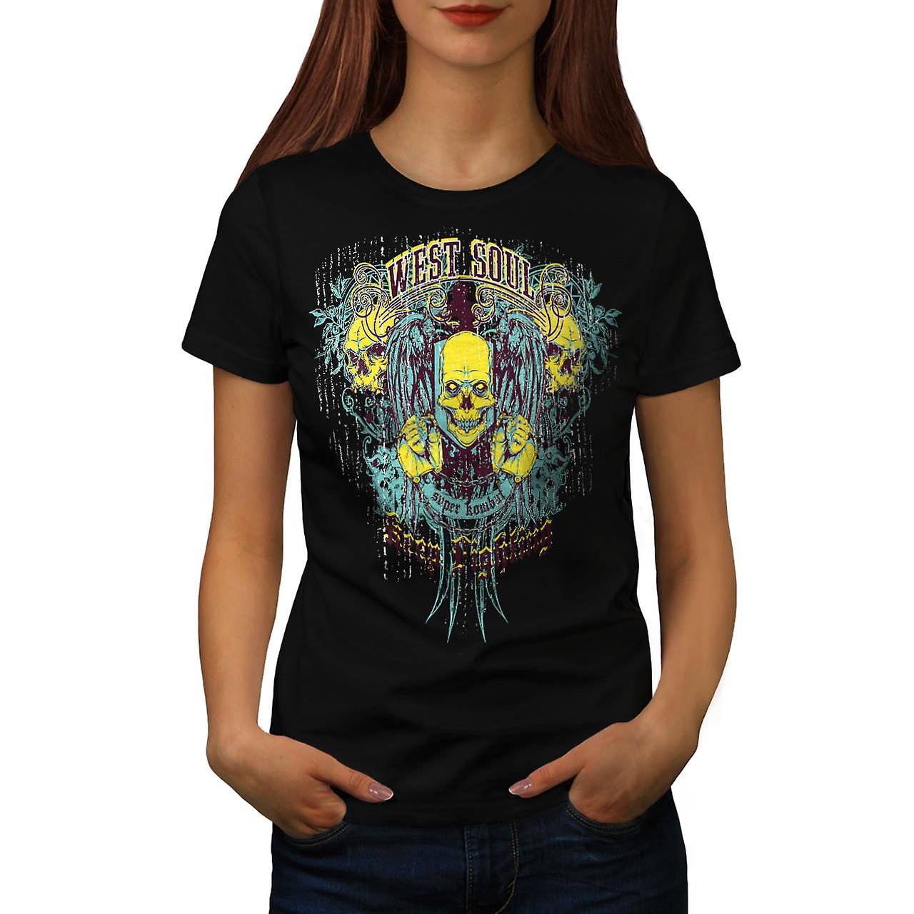 West Soul Lightning Super Combat Women Black T-shirt | Wellcoda