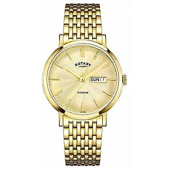 Rotary Mens Gold Plated Gold Dial GB05303/03 Watch