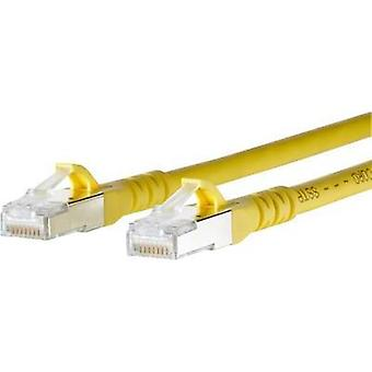 RJ49 Networks Cable CAT 6A S/FTP 0.50 m Yellow incl. detent Metz Connect