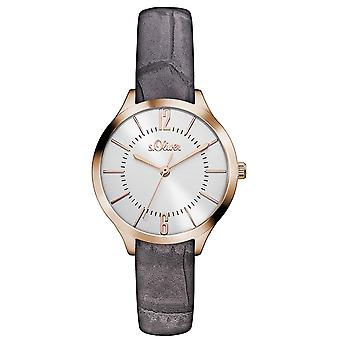 s.Oliver women's watch wristwatch leather SO-3121-LQ