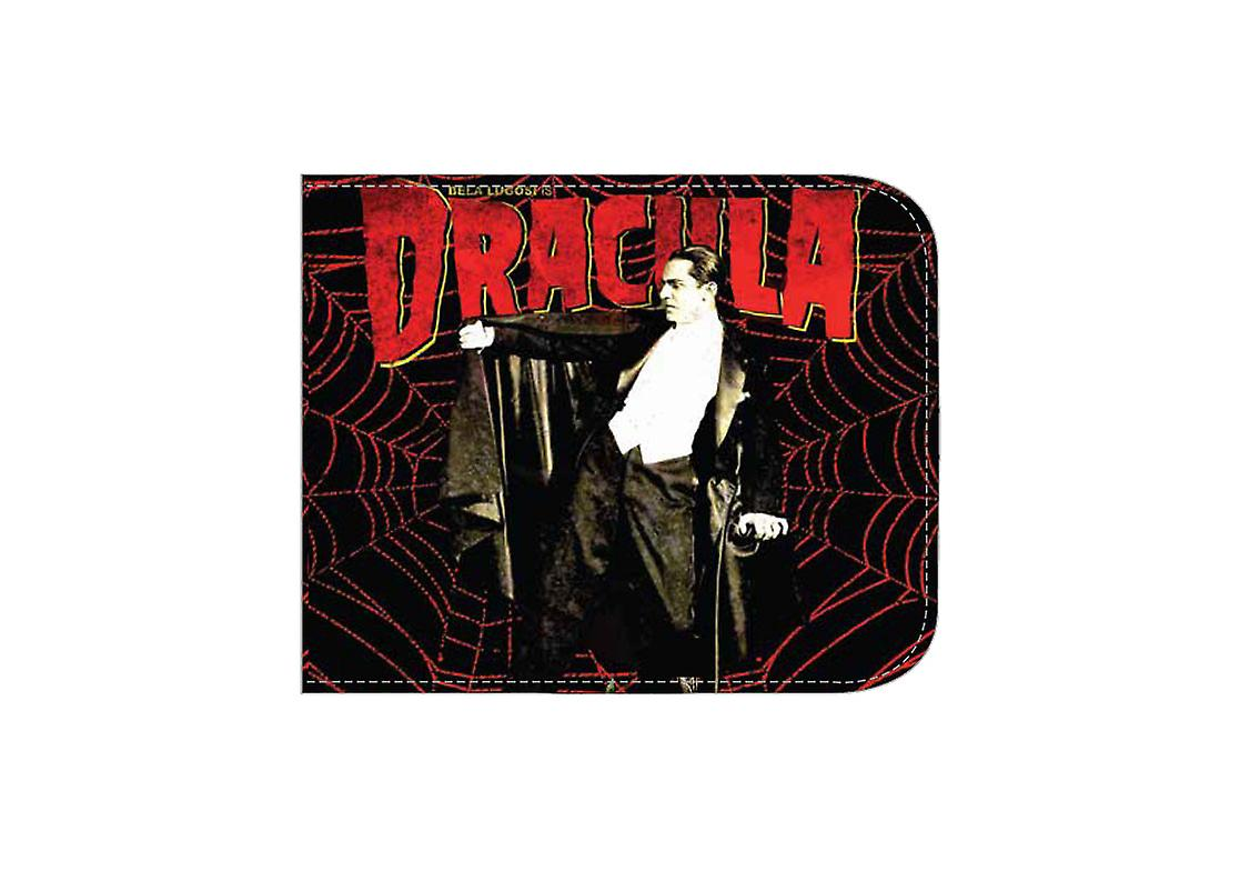 Rock Rebel Mens Dracula Web Bifold Wallet Accessory Classic Horror Movie Black