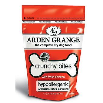 Arden Grange sprødt bid med frisk kylling 250g (pakke med 10)