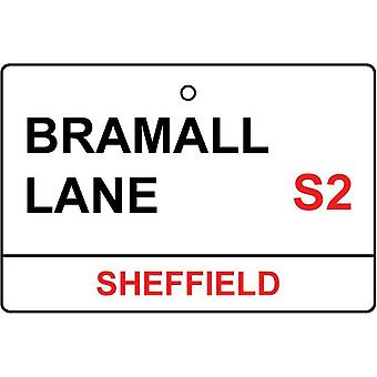 Sheffield Utd / Bramall Lane Street Sign Car Air Freshener