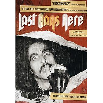 Last Days Here [DVD] USA import