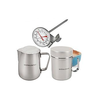 Andrew James Three Piece Professional Barista Coffee Set