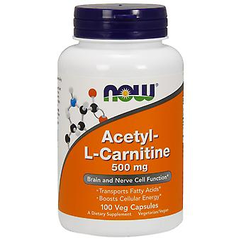 Now Acetyl L-Carnitine 500 mg 100 Cápsulas Vegetales