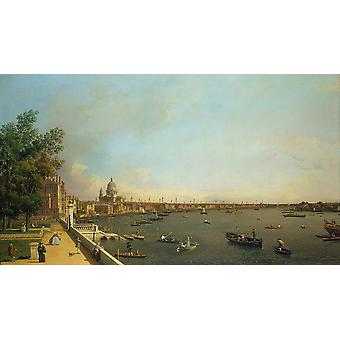 Canaletto - Londen de Thames vanaf Somerset House Poster Print Giclee