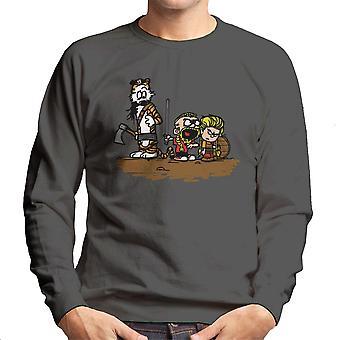 Calvin og Hobbes vikingerne Ragnar Lothbrok mænds Sweatshirt