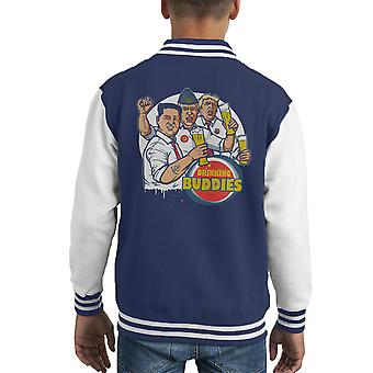 World Leader Drinking Buddies Putin Trump Kim Jong Un Kid's Varsity Jacket