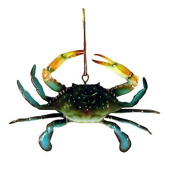 Kystnære Maryland Blue krabber 6 tommer tre dimensionelle harpiks Ornament