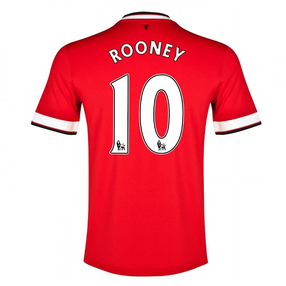 2014-15 Manchester United Thuis Shirt (Rooney 10)