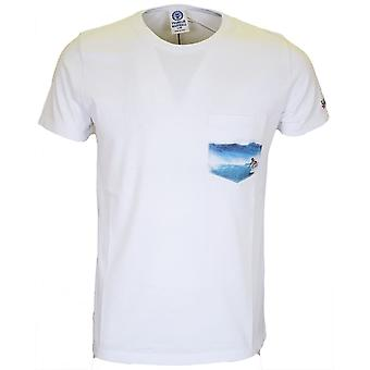 Franklin & Marshall La252 Surf Regular Fit camiseta blanca