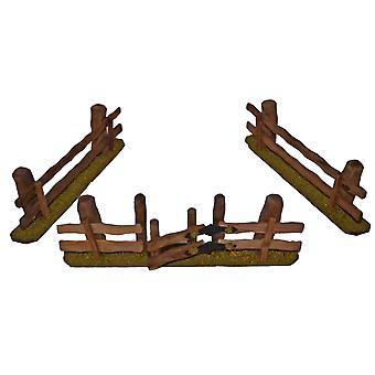 Wood fence fence set of 3 for Christmas Nativity stable Nativity accessories