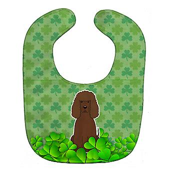 Carolines Treasures  BB6204BIB Irish Water Spaniel Shamrocks Baby Bib