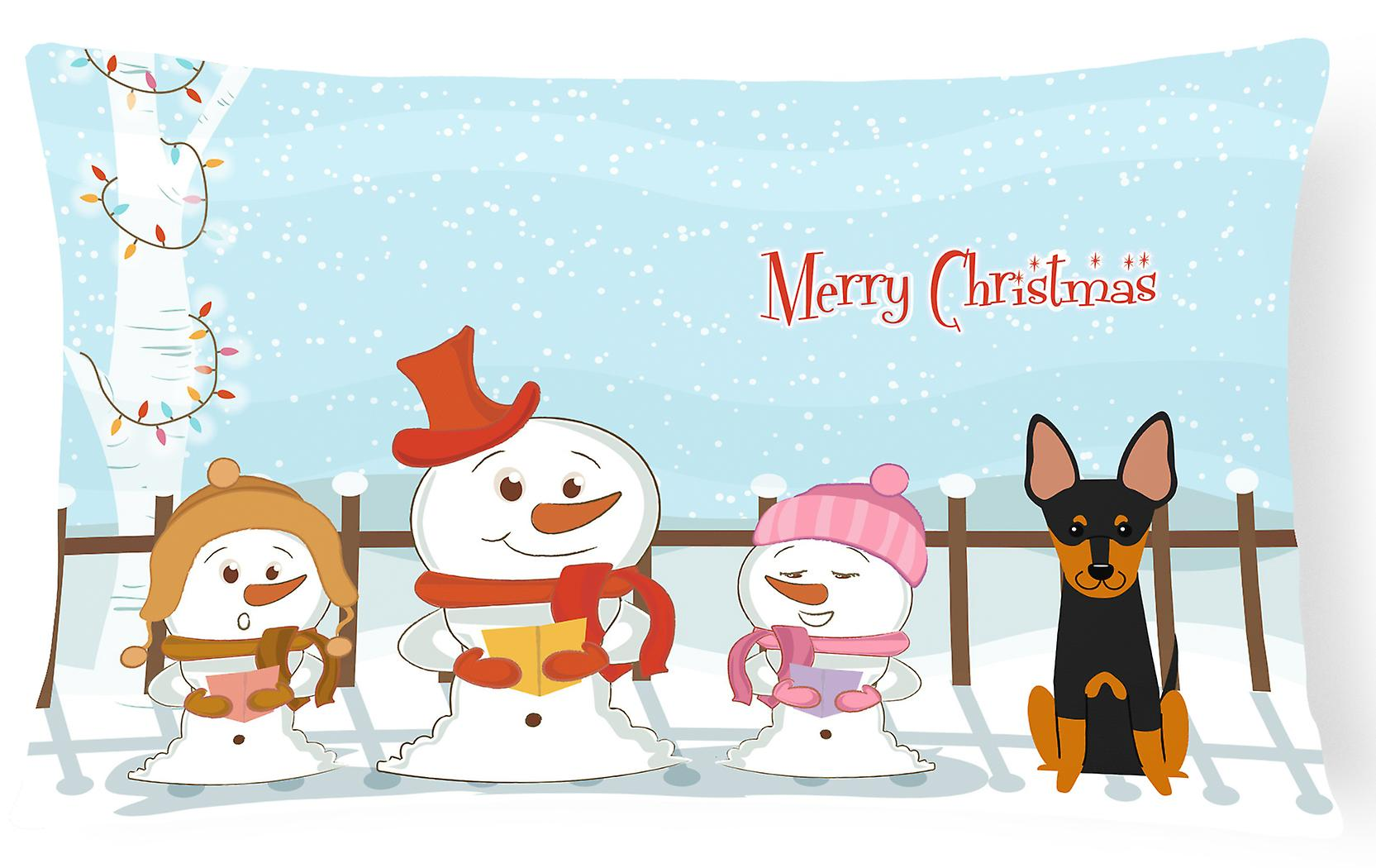 Chanteurs Oreiller Anglais Toile Terrier Toy Tissu Décoratif Joyeux Noël bfgyY76