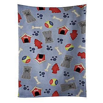 Perro casa colección Cañada de Imal gris toalla de cocina