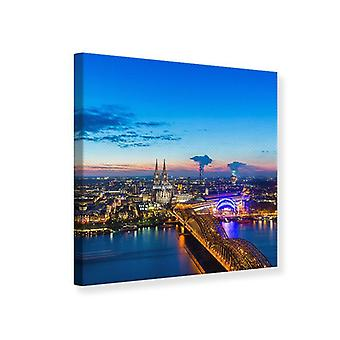 Lærred Print Skyline A Penthouse i Köln