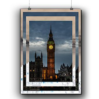 Matte or Glossy Poster with London City Night Fashion | Wellcoda | *q229