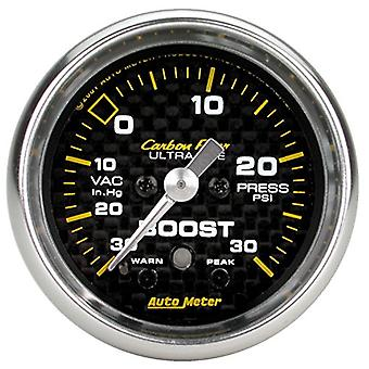 Auto Meter 4777 Carbon Fiber Electric Boost/Vacuum Gauge