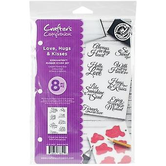 Crafter's Companion EZMounted Stamp Set-Love, Hugs, & Kisses CCSTLHK