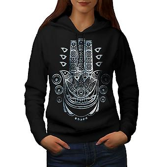 Ethnic Illuminati Women BlackHoodie | Wellcoda