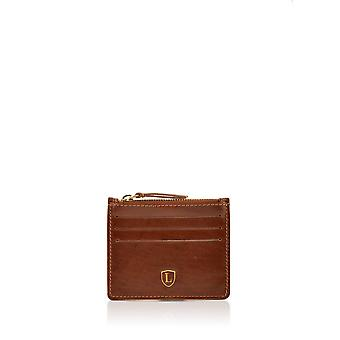 Ascari Leather Card & Coin Holder in Brown