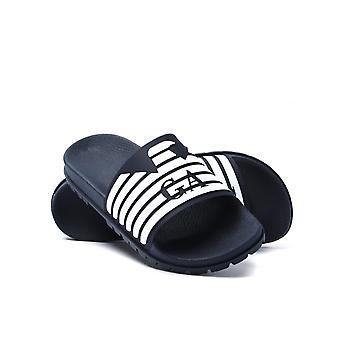 Emporio Armani Blue Night & White Slides