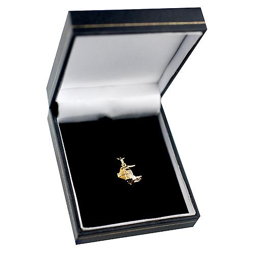 9ct Gold 12x8mm open Grand piano Pendant or Charm
