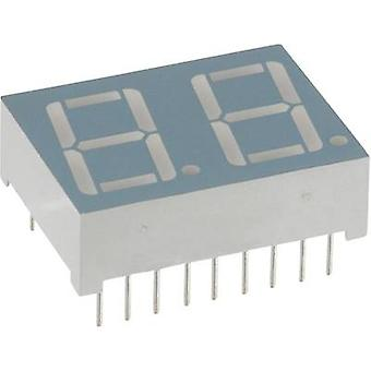 Seven-segment display Red 14.2 mm 1.7 V No. of digits: 2