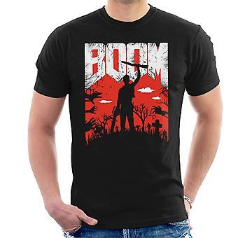Aske Vs onde døde Boom Doom skrifttype mænd T-Shirt