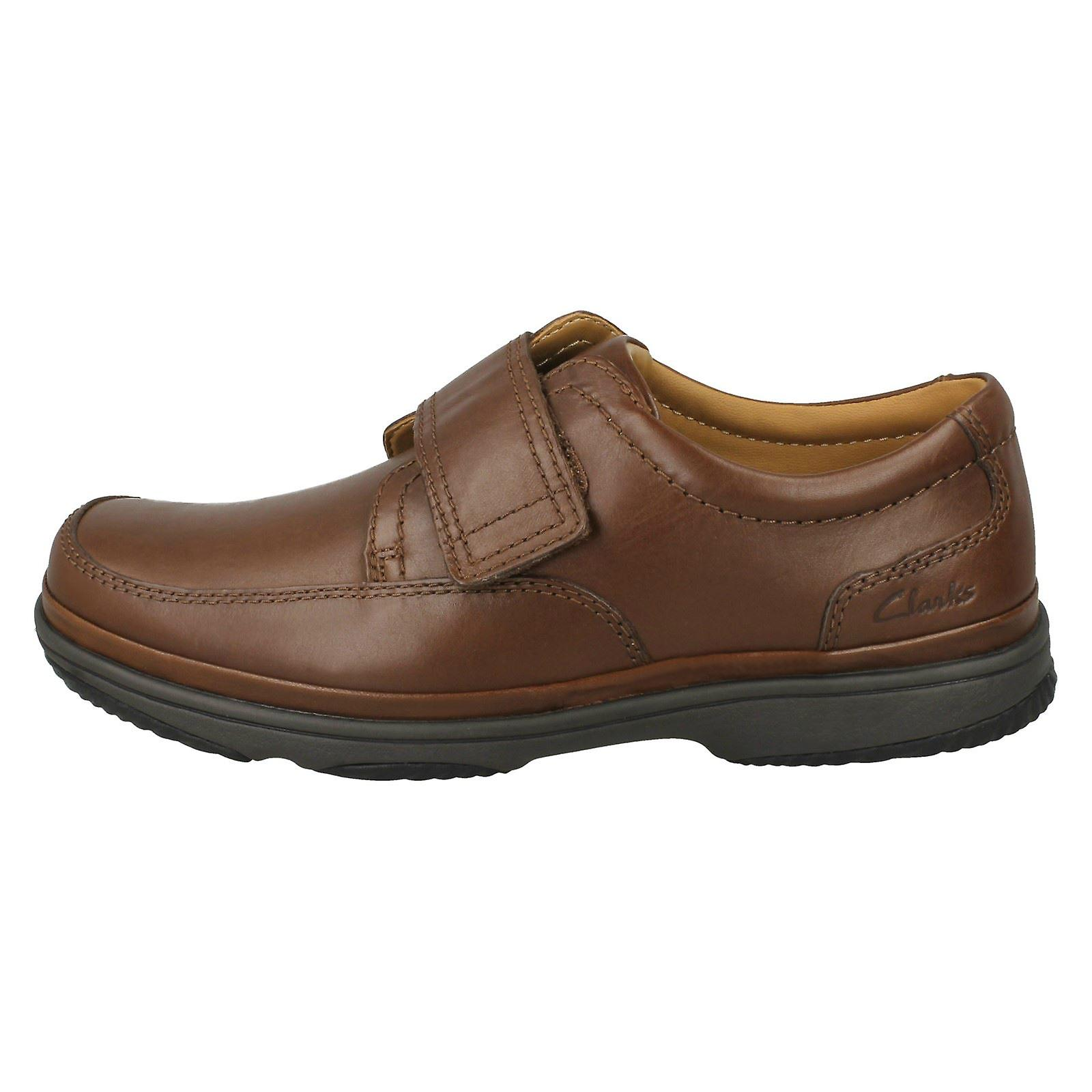 Swift Extra Fitting Shoes Riptape Mens Clarks Turn Strap Wide w7vx1560q