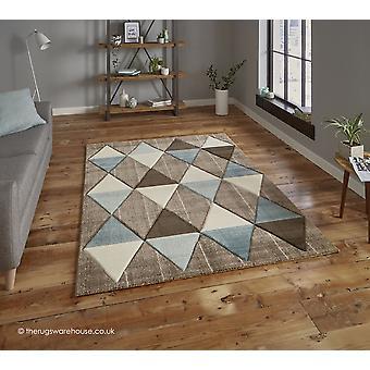 Proska Beige blauw tapijt