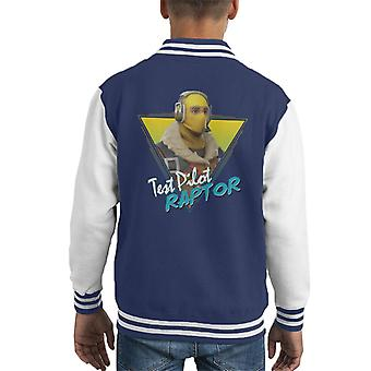 Fortnite Retro Raptor Kid's Varsity Jacket