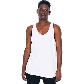 American Apparel Mens Fine Jersey 100% Cotton Contrast Tank Top