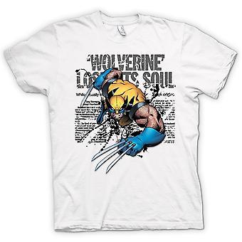 Mens T-shirt - Wolverine - Lost Soul - Comic Hero