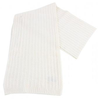 Bassin and Brown Barlow Plain Ribbed Scarf - White