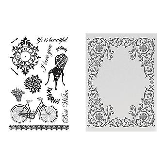 Couture Creations C'est La Vie Extravagant Days Stamp And Emboss Set