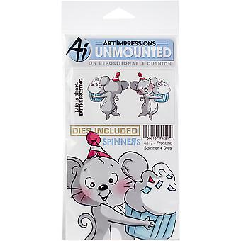 Art Impressions Spinners Stamp & Die Set-Frosting AI4817