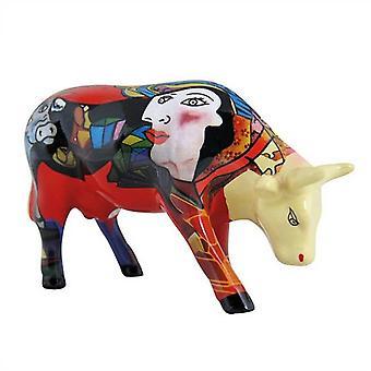 Cow Parade Picowso's Homage to African Period (medium ceramic)
